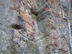 Rock Climbing Photo: Enjoying the fun lower half of Mule.