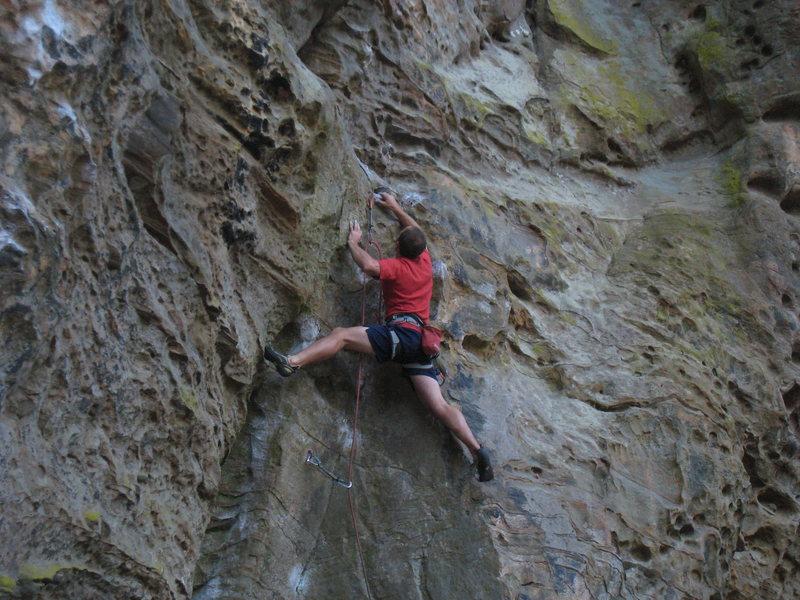 Rock Climbing Photo: Mule begins up a fun dihedral.