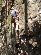 Rock Climbing Photo: Cruising the easy headwall.