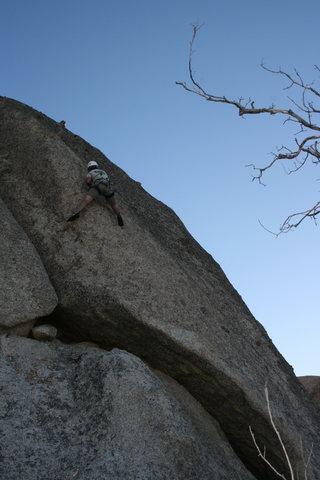 Rock Climbing Photo: Nate working Nice Mellons