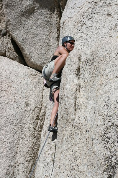 Rock Climbing Photo: working a crack at Committee Crags
