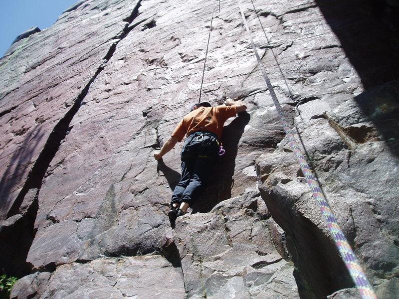 Rock Climbing Photo: Jeff Vogtschaller lives at Devil's Lake...practica...