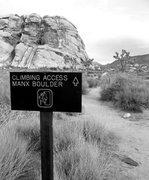 Rock Climbing Photo: new signage since last i visited jtree, oooooooooo...
