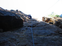 Rock Climbing Photo: Brett Hayes leading Left Corner 5.9. Photo by Floy...