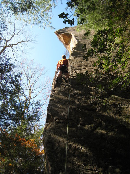 Beginning up the long arete.