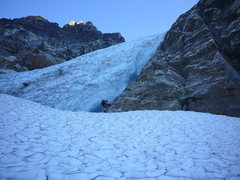 Rock Climbing Photo: base of the icefall