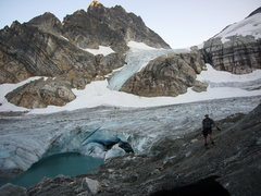 Rock Climbing Photo: Standing at the base of the Lower Borealis Glacier...