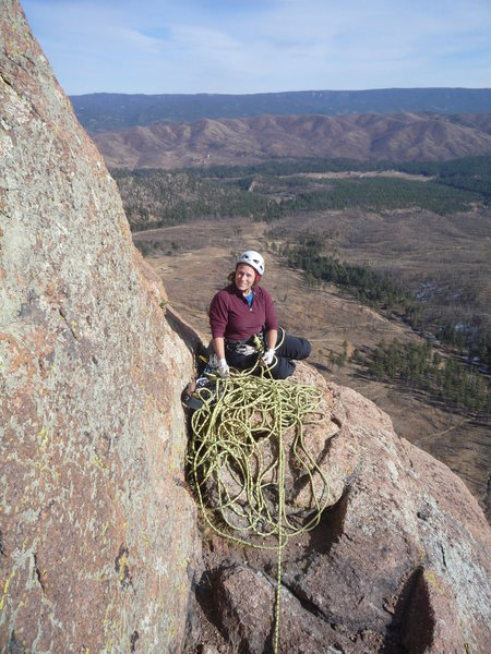Rock Climbing Photo: Top of our third pitch.