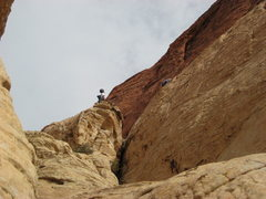 "Rock Climbing Photo: Oliver belaying Dan at ""Unknown"" route."