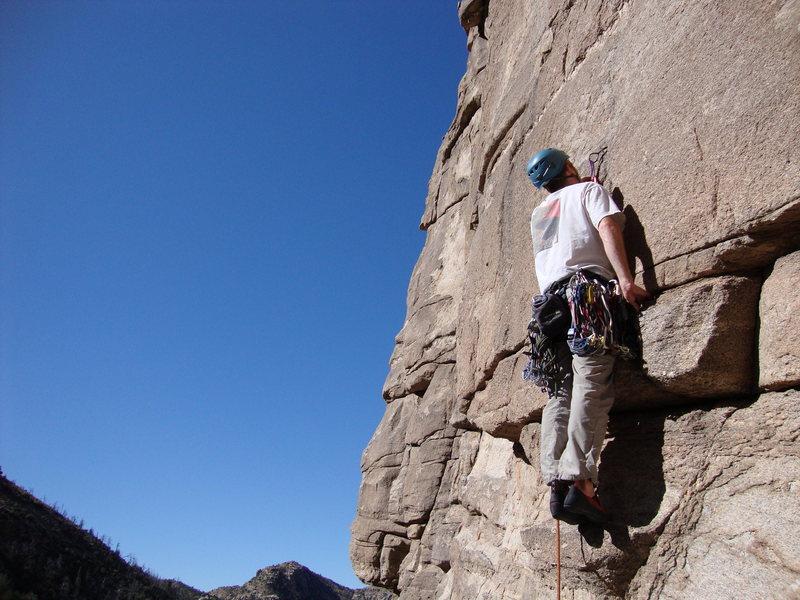 Rock Climbing Photo: Thin gear for direct start