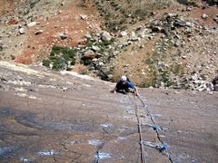 Rock Climbing Photo: Birdland, P5 Finger Crack
