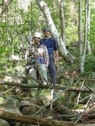 Rock Climbing Photo: Assorted climbing at Artist Bluff, Franconia Notch...