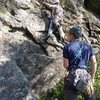 Assorted climbing at Artist Bluff, Franconia Notch, NH