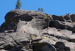 Rock Climbing Photo: Shirley dispatching Cocaine Crack while Pat & I wa...