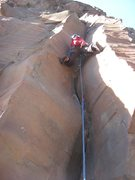 Rock Climbing Photo: Shirley leading Wildfire.