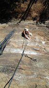 Rock Climbing Photo: Looking down from the anchors on Return of the Man...