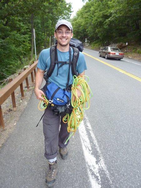 Assorted June climbing at the Shawangunks, NY.