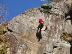 Rock Climbing Photo: Assorted Climbing at Rumney, NH in October.