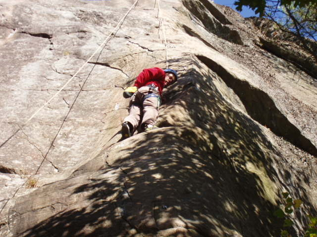 Assorted Climbing at Rumney, NH in October.