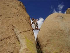 Rock Climbing Photo: Easy to look like a hero on 5.8..... Last pitch on...