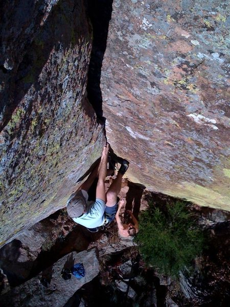 Rock Climbing Photo: chris johnson showing off how well his iphone take...