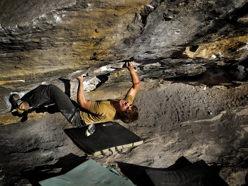 "Rock Climbing Photo: Jason Baker making business of ""Air Loopis (V..."