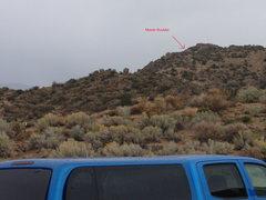 Rock Climbing Photo: Mantle boulder seen from parking lot.