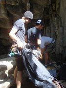 Rock Climbing Photo: getting ready for Escher's Staircase