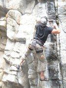 Rock Climbing Photo: Jason heading up Bilbo's Bragging