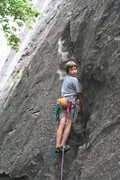 Rock Climbing Photo: 13 year old Cole Gulden on one of his first leads