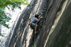Rock Climbing Photo: 13 y.o. Cole Gulden leads his first 5.10!