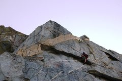 Rock Climbing Photo: Pulling through the overhang at the end of the rig...
