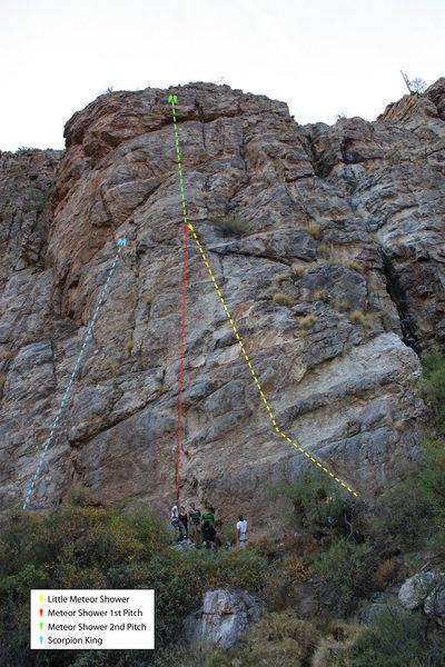 Rock Climbing Photo: Scorpion King and Meteor Shower