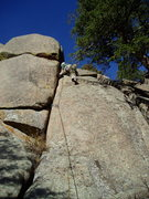 """Rock Climbing Photo: Entering the """"low angle"""" dihedral. Altho..."""