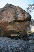 Rock Climbing Photo: Home Is Where You Hang Yourself V3 Topo