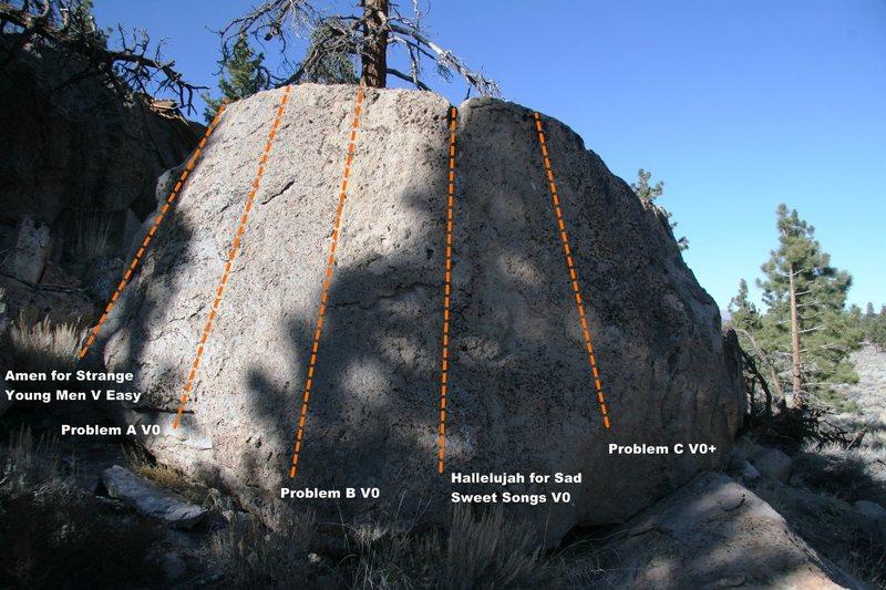 Melancholy Boulder South Slab Topo