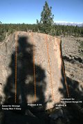 Rock Climbing Photo: Melancholy Boulder South Slab Topo