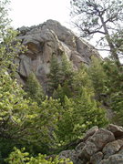 Rock Climbing Photo: The west face and overhangs of The Acrophile. Lith...