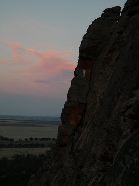 Watchtower Crack at Sunset.