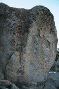 Rock Climbing Photo: Relax V2 Topo