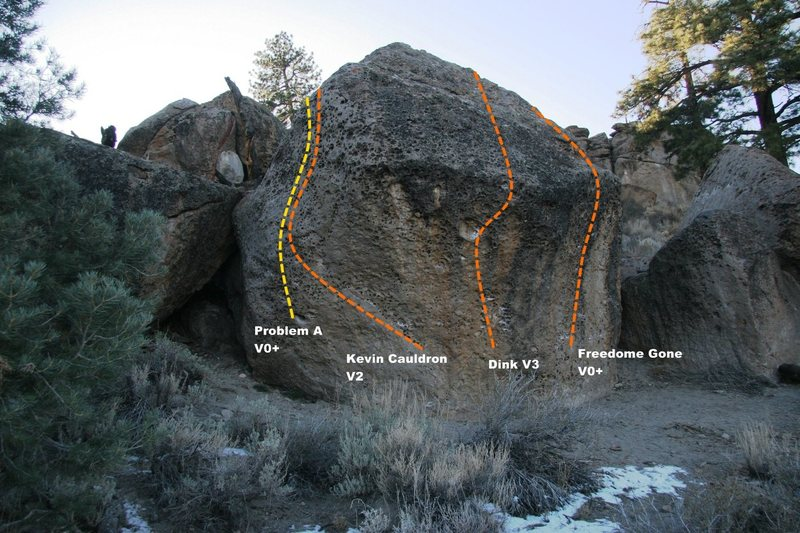 The Wedge Boulder Left Topo