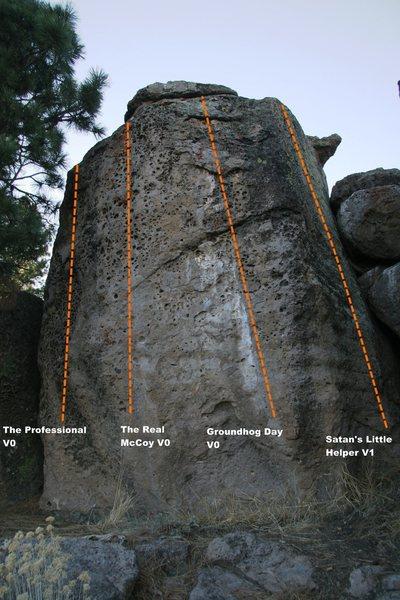 Boulder 1 Front Face Topo