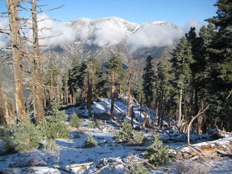 Season's first snow on Mt. Baldy