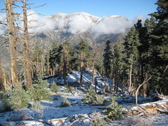 Season's first snow on Mt. Baldy