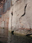 Rock Climbing Photo: Climbing Lake Powell, UT