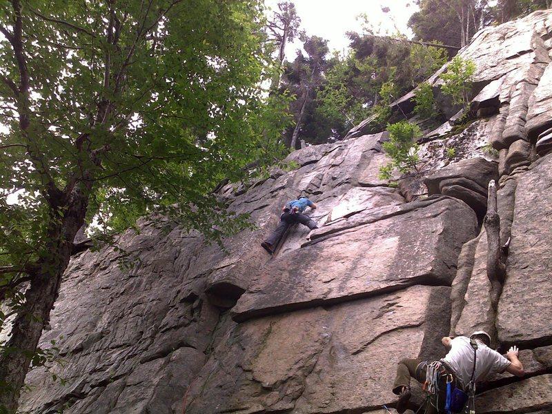 "First Trad Lead ""Maiming of the Shrew"" Echo Crag, Franconia Notch, NH"