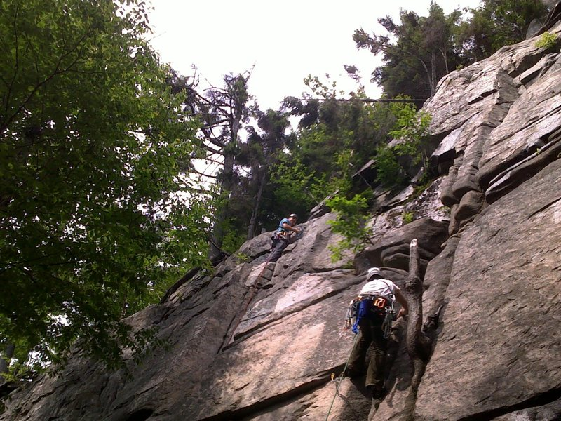 "First Trad Lead ""Maiming of the Shrew"" Echo Crag, Franconia Notch, NH on July 12"
