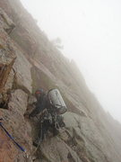 Rock Climbing Photo: Last pitch, Nov. 14, 2009.  Adam Sinner trying to ...
