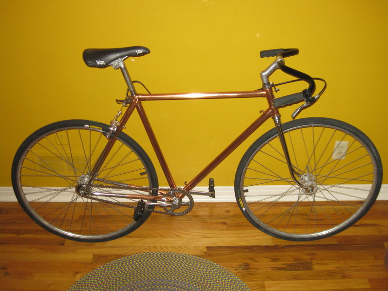 1968  <br> <br> <br> <br> <br> <br> <br> <br> <br> <br> 1968 Puch copper-plated fixie<br> <br>
