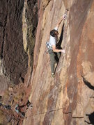 Rock Climbing Photo: Rob Kepley on 'Huck Off' w/ Scott Bennett. Eldorad...